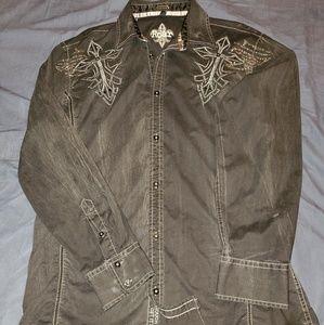 Black vintage style Roar shirt size large